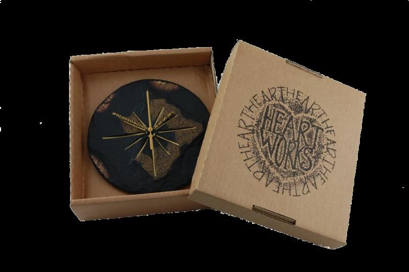 round clock in a box
