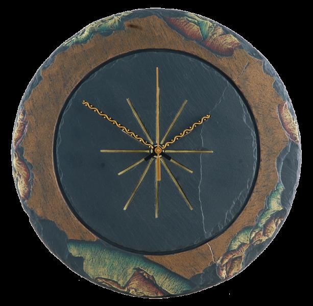round large clock slate