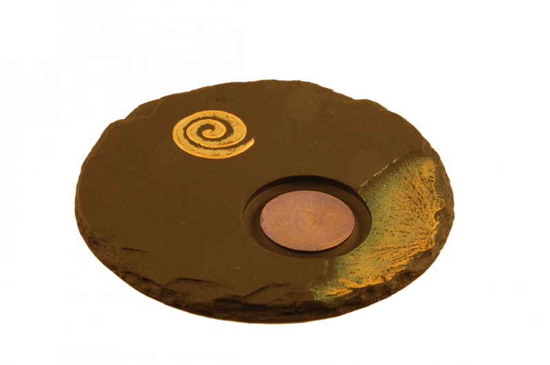 slate tealight holder celtic spiral