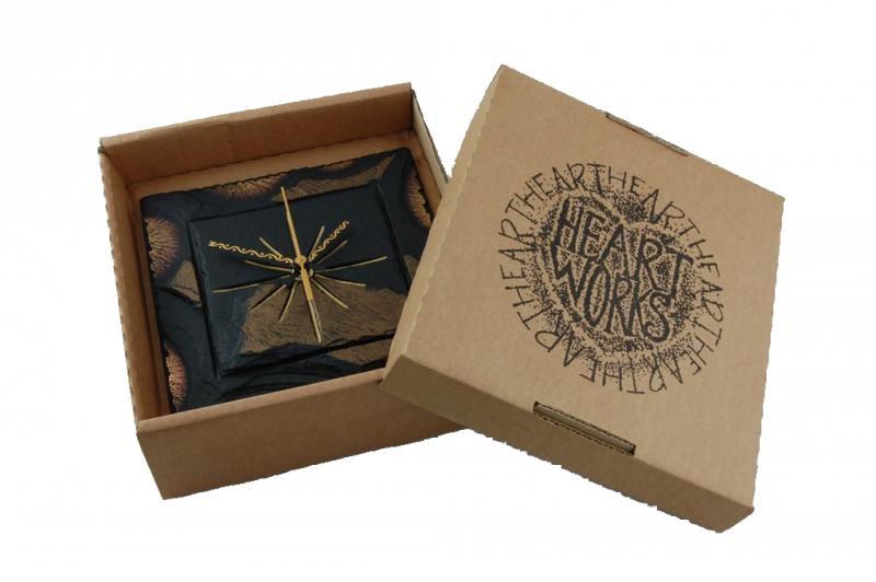 square clock in a box