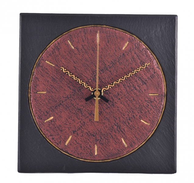 slate funky modern clock