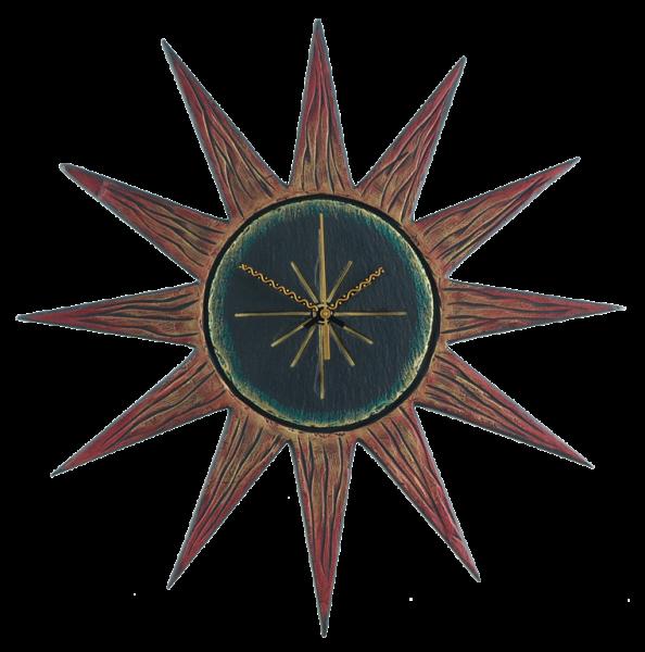 Sun clock red rays