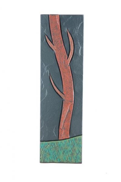 tree trunk e on slate