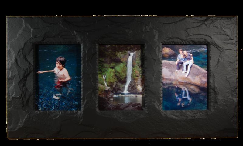 slate triple photo frame