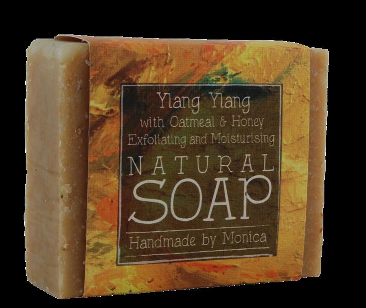 ylang ylang with honey and oatmeal handmade naturarl soap