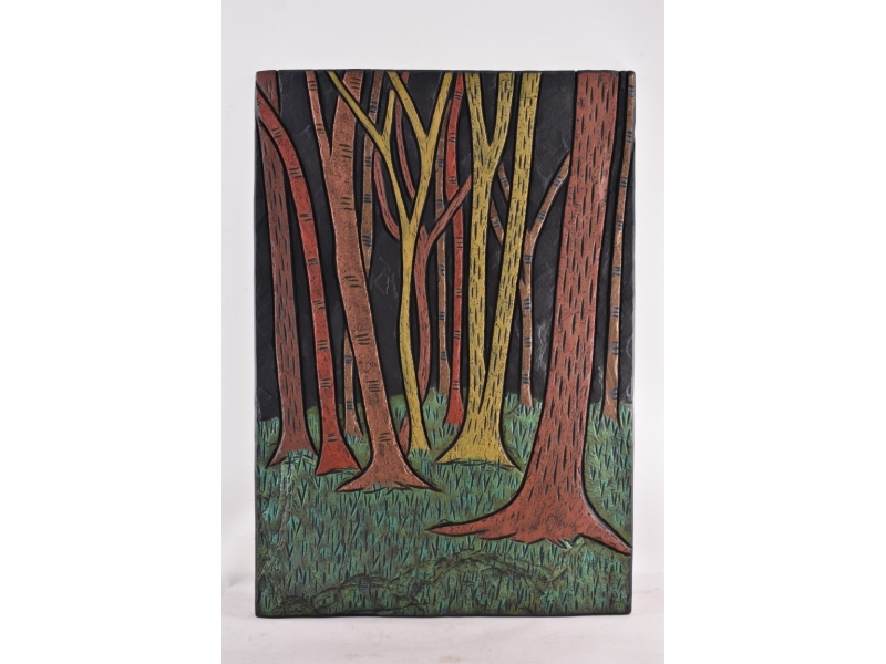 tree trunks on slate modern design