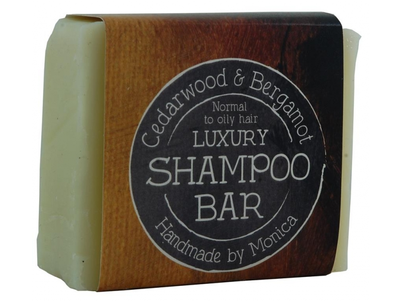 cedarwood and bergamot luxury shampoo bar