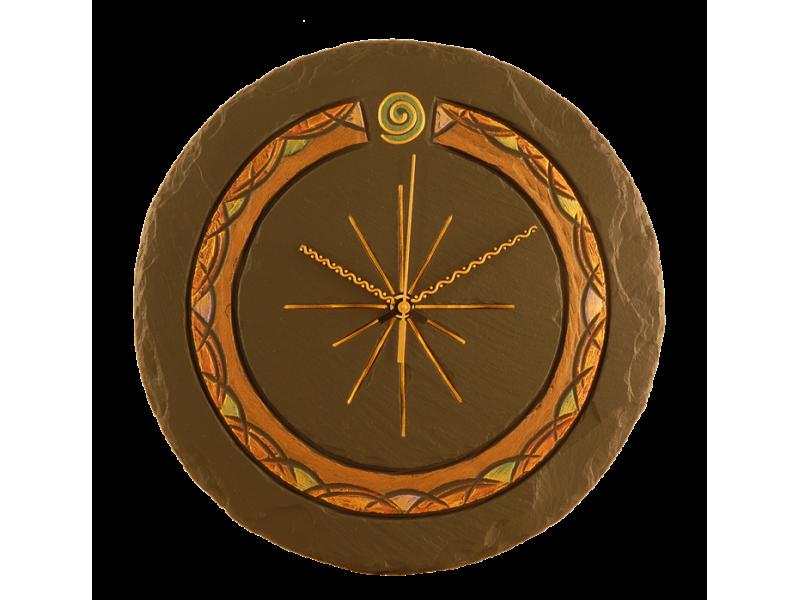 Celtic Slate Round Clock