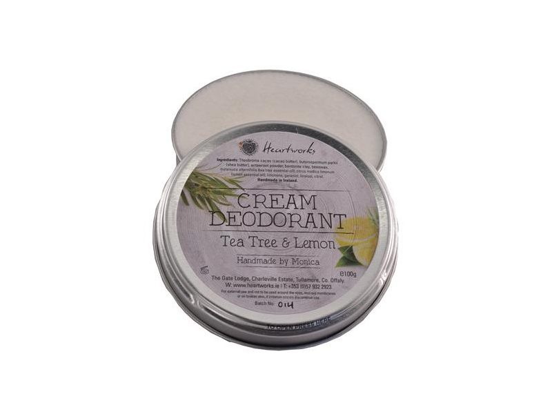 CREAM DEODORANT TEA TREE AND LEMON