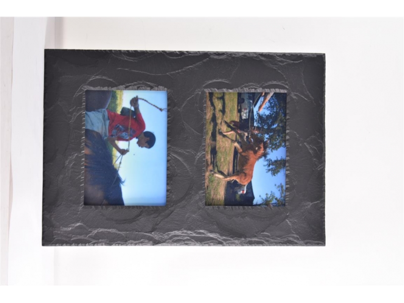 double slate picture frame