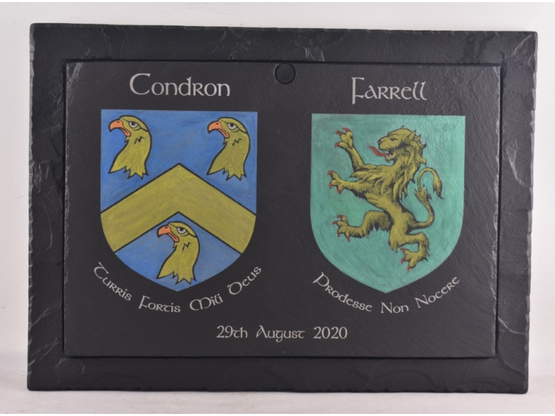 Family Crests on Slate