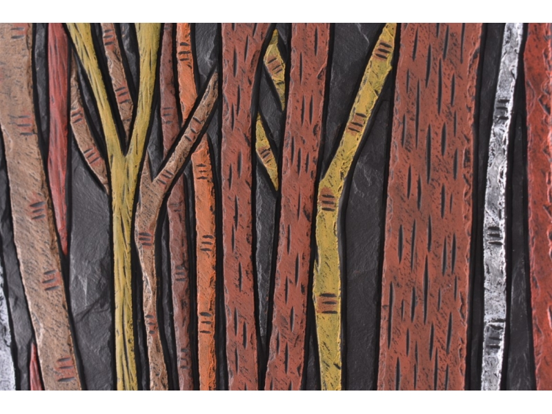 Forest scenes on slate