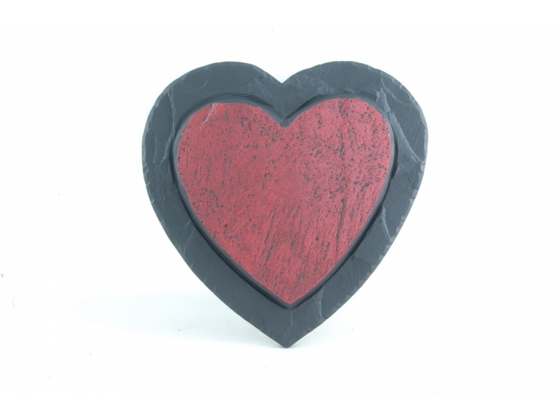 Heart shaped slate decoration