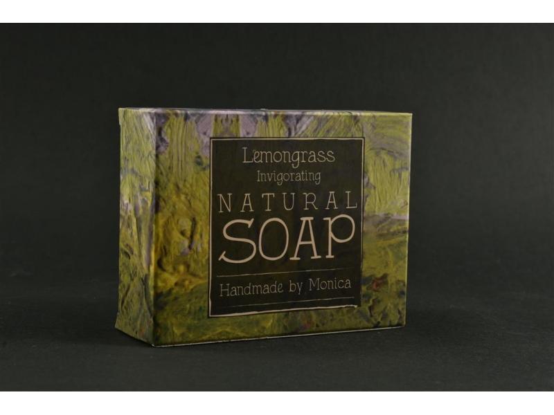 Natural Handamde Soap with Lemongrass.