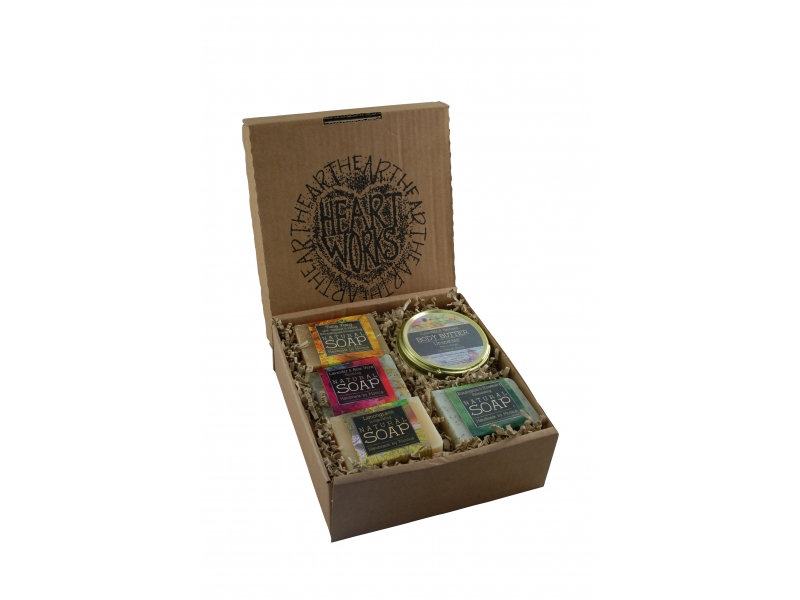 Natural handmade soaps and body butter gift set