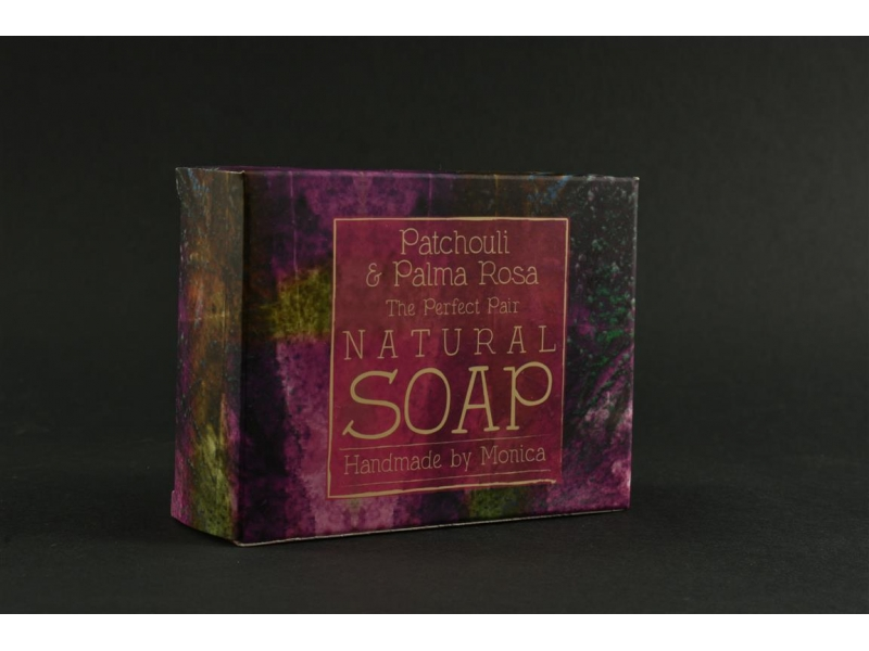 Palm Free Natural Soap Patchouli and Palma Rosa.