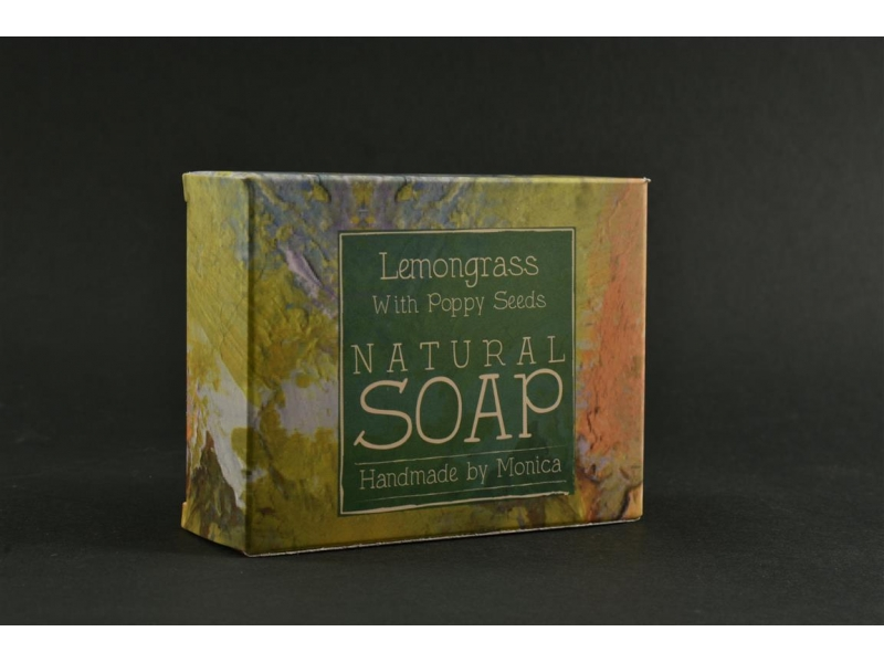 Palm Free Natural Soapd Lemongrass and Poppy Seeds