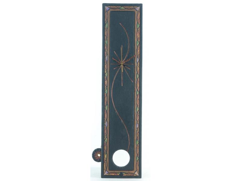 Slate pendulum clock with celtic border