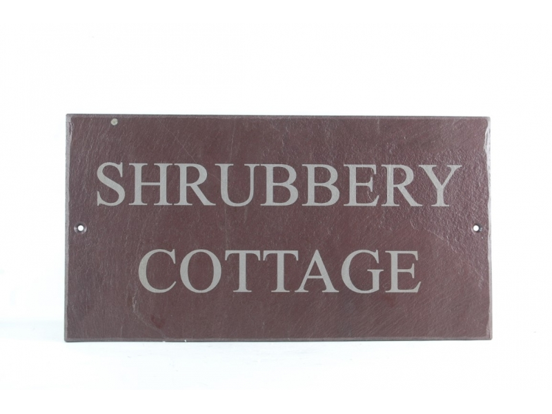 slate house sign laser printed