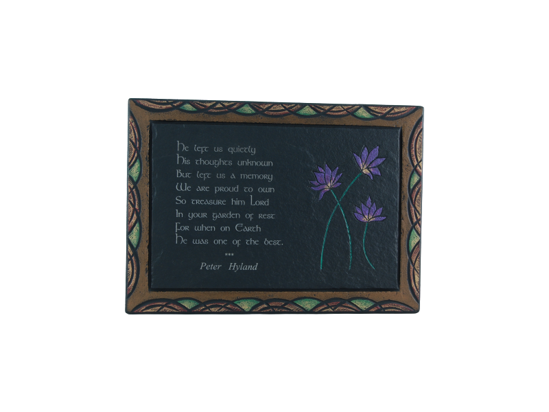 Slate gift plaque with poem