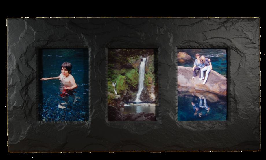 Slate Triple Photo Frame 7 Quot X5 Quot Landscape In Portrait